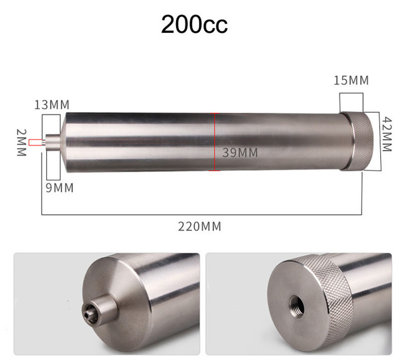 200cc stainless steel glue syringe