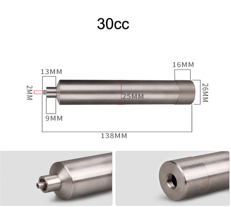 30cc metal glue syringe