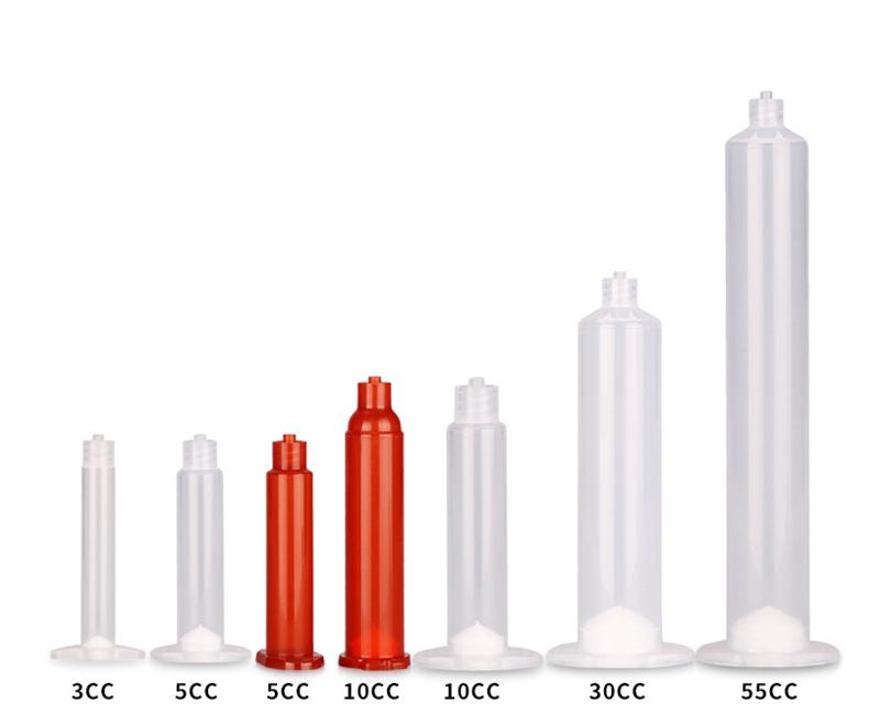 Pneumatic Glue Dispenser Syringe barrel - Luer Lock Syringe Of American Style 3cc 5cc 10cc 30cc 55cc