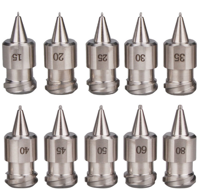 Stainless steel luer lock tapered nozzle