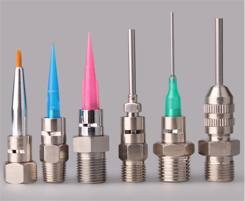 glue dispensing syringe fittings