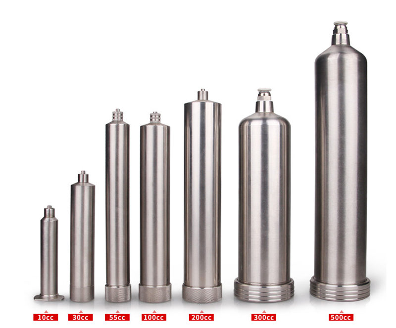 Stainless Steel Pneumatic Syringe Barrel - Size from 10cc to 500cc
