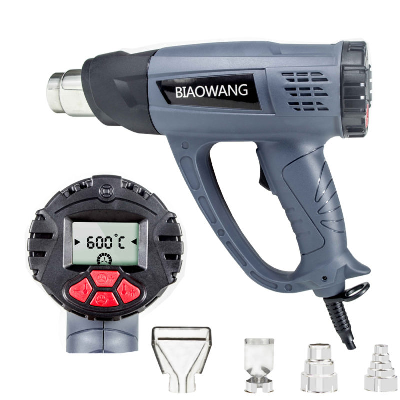 Building Hair Dryer 110V/220V Heat Gun with Digital Display Temperature Ajustable Heating Tool  OEM