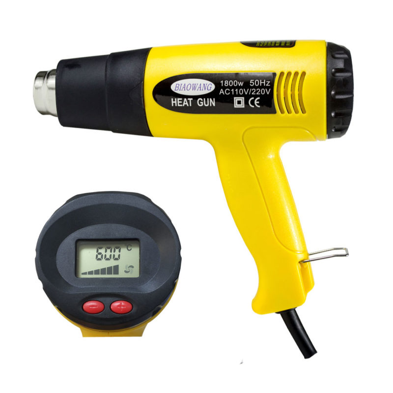 LCD Hot Air Gun Industrial Hair Dryer with 15 Seconds Delay Shutdown Function OEM