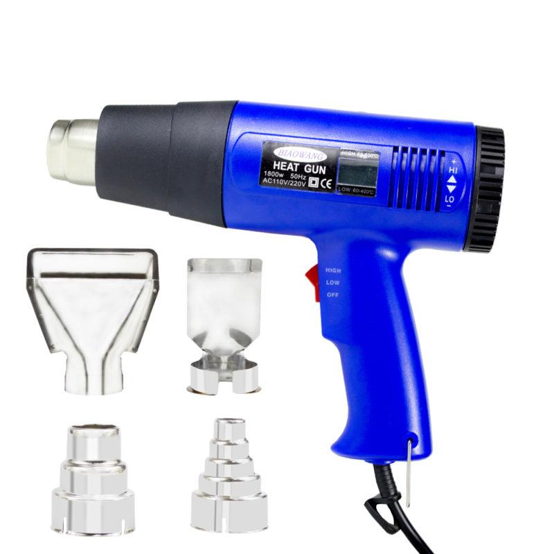 Hot air heat gun with display for temperature adjustable 220V EU plug