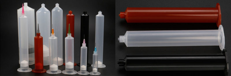 Glue dispensing syringes